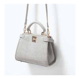 ZARA Croco Travel Sling Bag