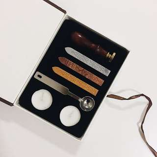 Wooden Wax Seal Stamp Set