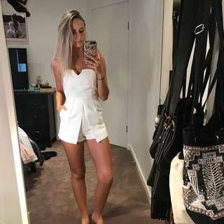 White Jumpsuit with Pockets