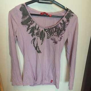 Esprit long sleeve top lilac