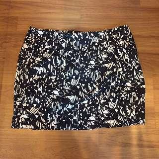 Forever 21 short monogram skirt