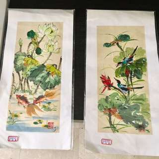 Beautiful artistically done paintings , price for each quoted negotiable