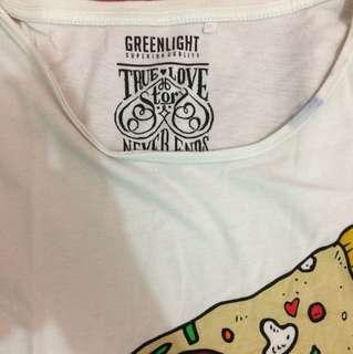 T shirt green light ori