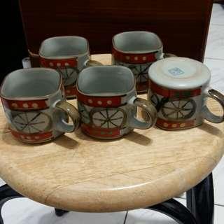 方型泡茶杯×5