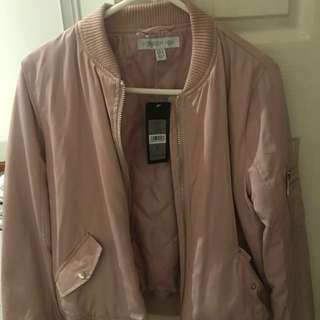 DUSTY PINK Forever New Bomber Jacket