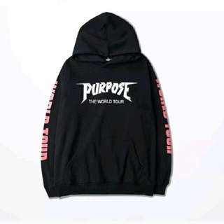 Purpose tour hoodie ! Black