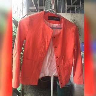 ZARA Basic Orange Blazer