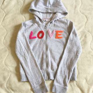 H&M Sweater hoodie light grey for girl