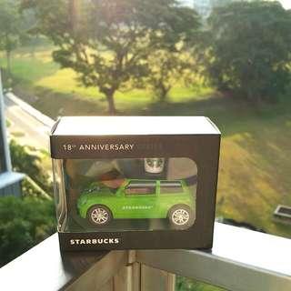 Starbucks 18th Anniversary Miniature Car / Mini Cooper - Light Green