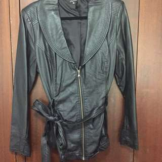 City Chic Leather Jacket - Size M