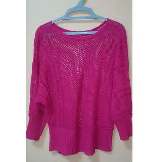 Fuchia Pink Knitted Top