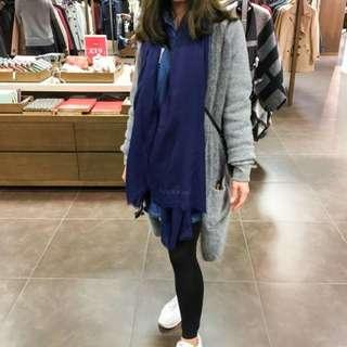 全新burberry cashmere頸巾(藍色)