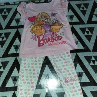 Barbie shirt and leggings