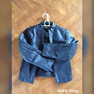 MANGO genuine leather jacket