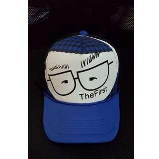 Blue White Trucker Cap