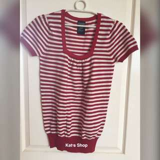 Bayo Blouse with Red and White Stripes