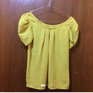 [REPRICE] Blouse Yellow