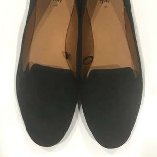 Black Loafer Flats - Size EU 36 (AU 5/6)