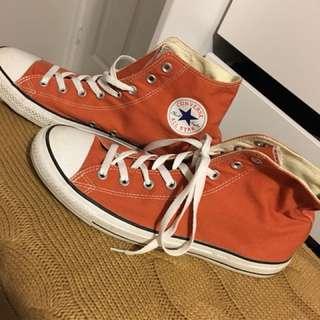 Orange Converse HighTops