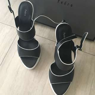 Pedro Black N White Heels