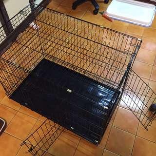 3尺全黑雙門寵物籠子 狗籠