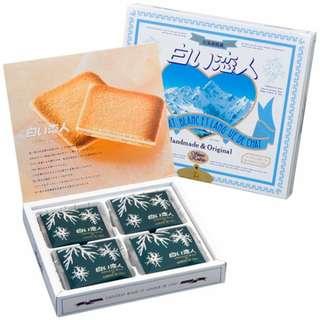 白色戀人12枚 兩盒$80 日本零食白朱古力夾心曲奇