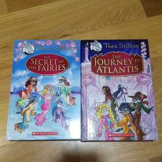 thea stilton and geronimo stilton books !!