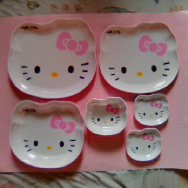 1Set Hello Kitty Plates and Bowls
