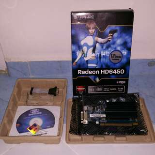 Ati Radeon HD6450 1Gb PCI-E graphic card.