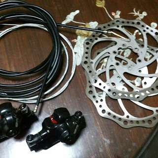 Dualtron ultra stock brake calipers, hose & brake disc