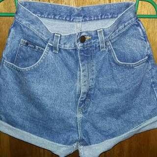 Lee high waist maong shorts