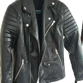 H&M Leather Jacket - Biker Style - Size: Medium
