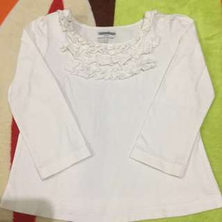 White Long Sleeves 100% Cotton