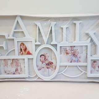 Family Photo frame white (60x35 cm)