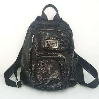 全新日本Craftsman 黑色珠片背包