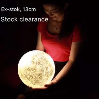 3D Moon Light 13cm- Girl Friend gift / home light / bed lamp / table lamp