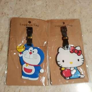 Luggage tag doraemon hello kitty