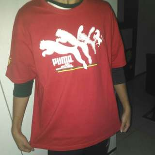 🚚 PUMA 紅衣短袖 XL號