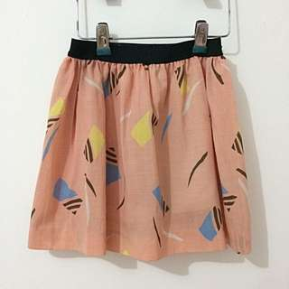 Orange pattern skirt