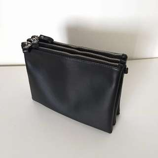 Trio Leather Clutch Bag