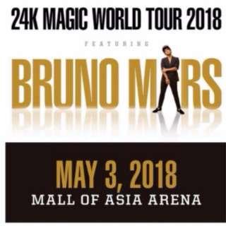 1 VIP Concert Ticket Bruno Mars 24K.