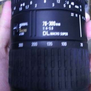 Sigma for sony a 70 300mm af Len 鏡頭 含前後蓋 遮光罩 紅標七成新