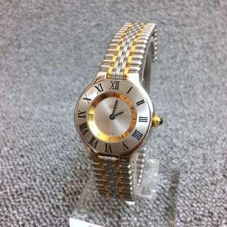 Cartier 18k金 石英錶