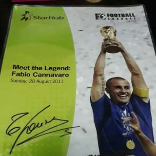 FABIO CANNAVARO WORLD CUP 2006 AUTOGRAPH (AUTHENTIC)