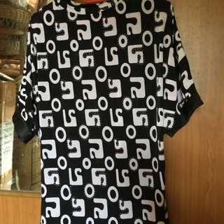Blouse (black & white color)