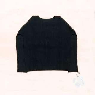 Issey Miyake 三宅一生 黑色 壓褶長袖