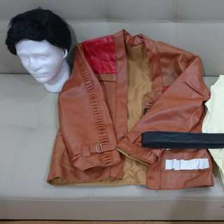 Star wars Poe Dameron full set cosplay costume with wig