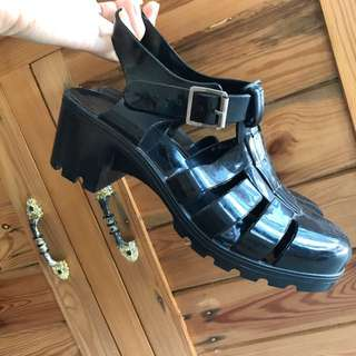 Alice Style Jelly Shoes Black