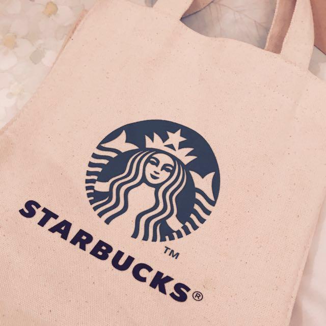 降價囉🎈全新249 Starbucks 星巴克麻布式手提購物袋