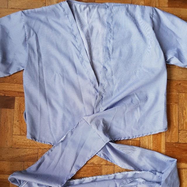 3/4 Sleeves Wrap Top